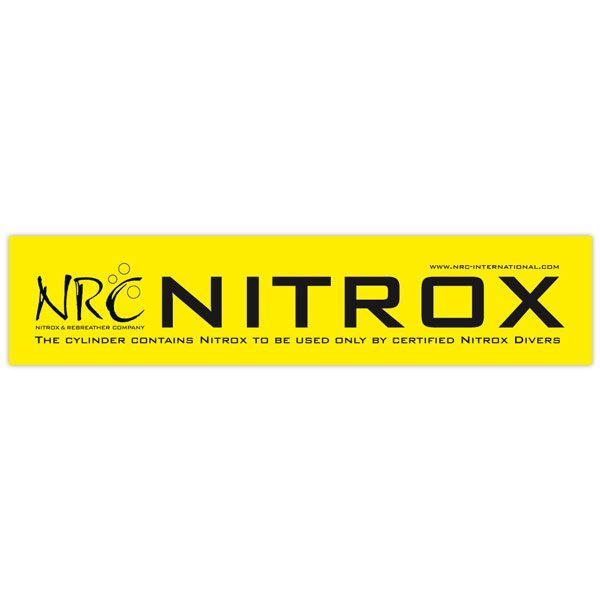 Nitrox bottle sticker