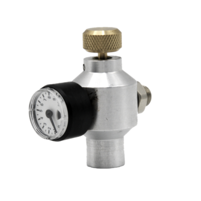 1384 Test gas valve single g1 8 nipples WITH residual pressure indicator TR